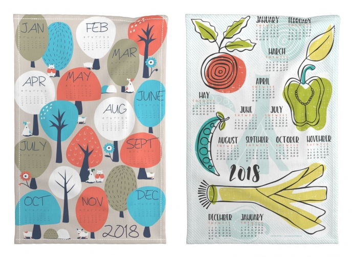 Spoonflower's 2018 Calendar Tea Towels [06] | Pitter Pattern