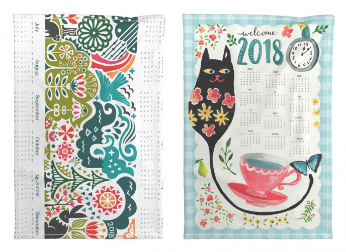 Spoonflower's 2018 Calendar Tea Towels [07] | Pitter Pattern