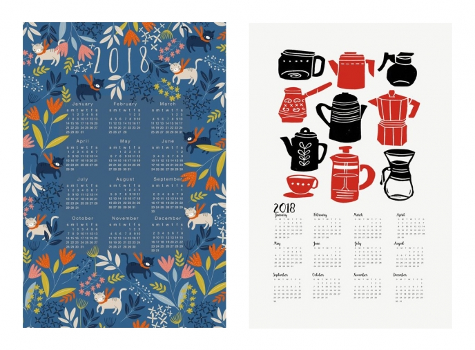 Spoonflower's 2018 Calendar Tea Towels [09] | Pitter Pattern