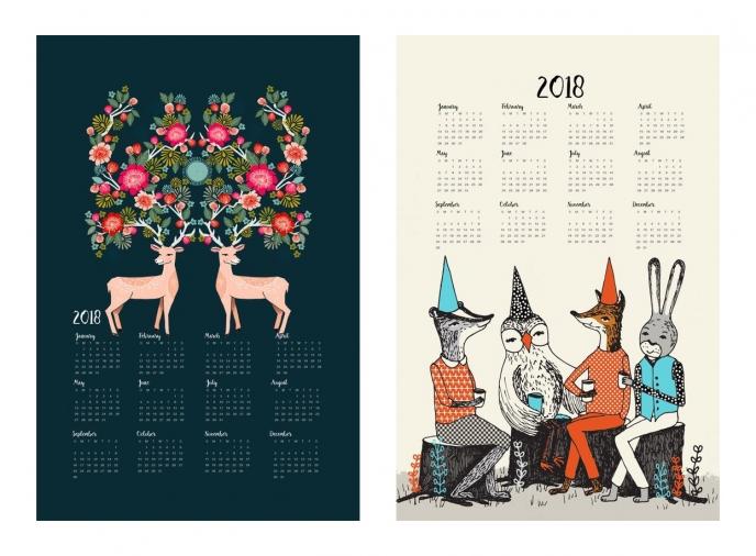 Spoonflower's 2018 Calendar Tea Towels [10] | Pitter Pattern