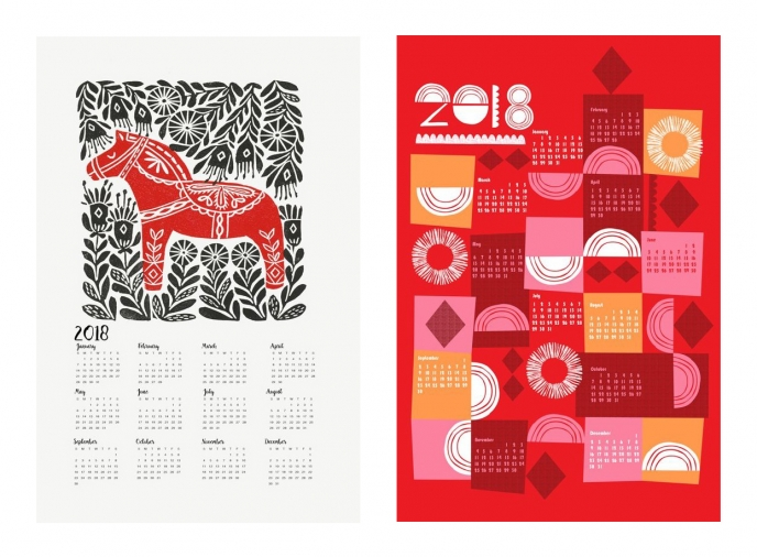 Spoonflower's 2018 Calendar Tea Towels [12] | Pitter Pattern