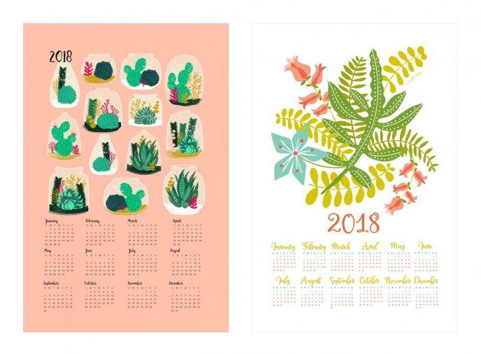 Spoonflower's 2018 Calendar Tea Towels [13] | Pitter Pattern