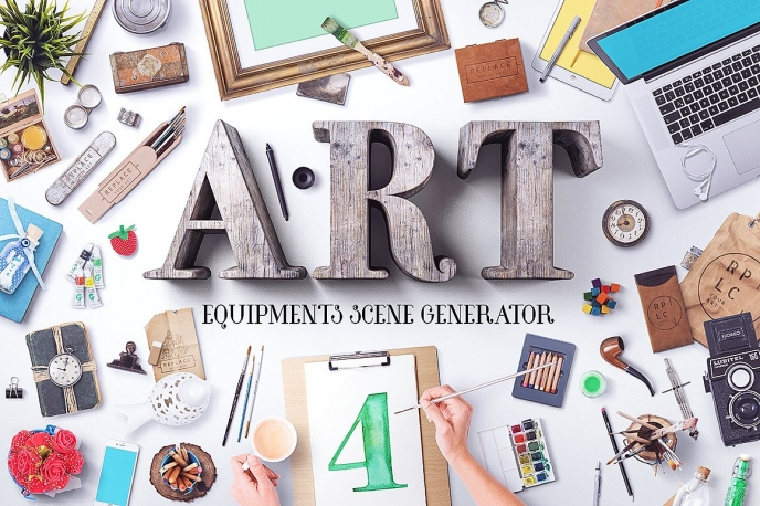 Art Equipment Scene Generator V4 - Design Cuts | Pitter Pattern