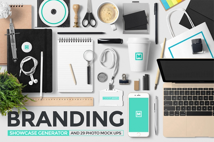 Branding Showcase Generator and Photos - Design Cuts | Pitter Pattern