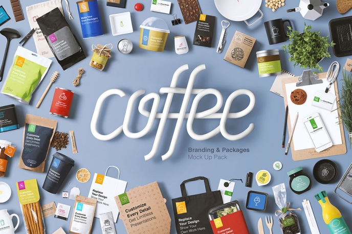 Coffee Branding & Packages Mockup - Design Cuts | Pitter Pattern
