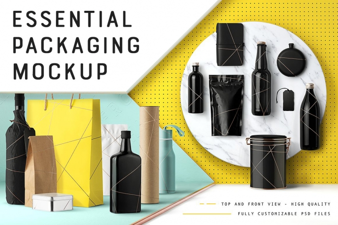 Essential Packaging & Branding Mockup - Design Cuts | Pitter Pattern