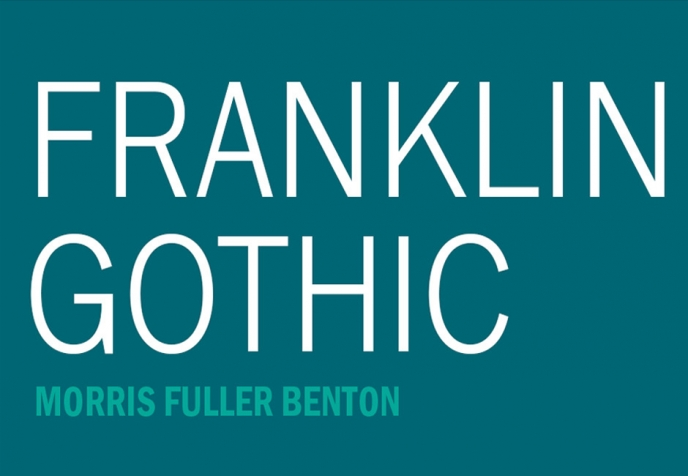 Franklin Gothic - Design Cuts | Pitter Pattern