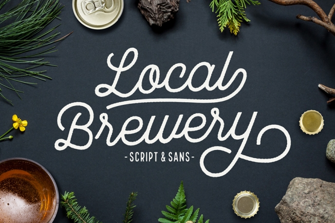 Local Brewery Script + Sans - Design Cuts | Pitter Pattern