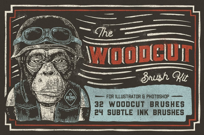The Woodcut Brush Kit - Design Cuts | Pitter Pattern