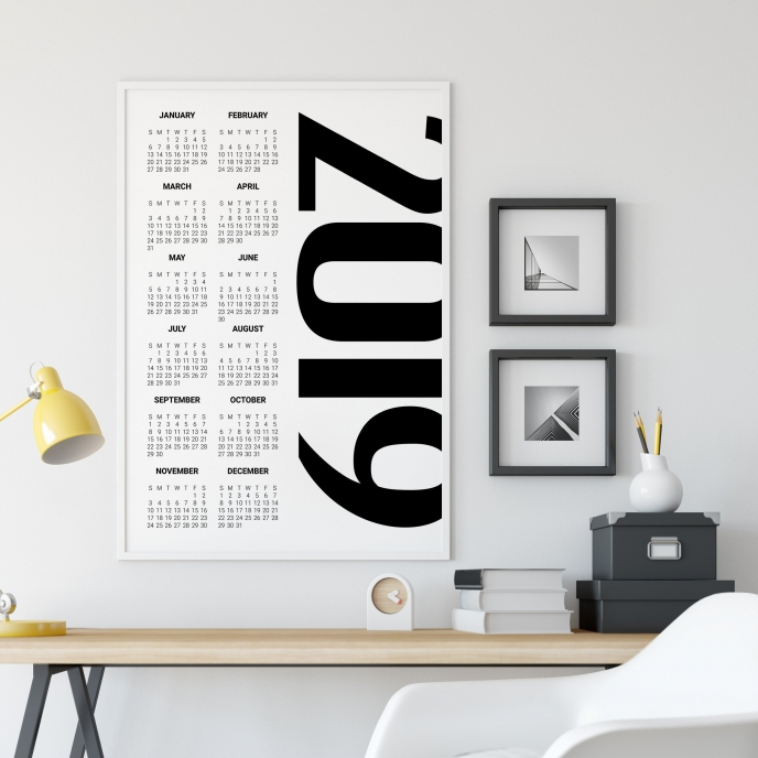 All Things Black Store 2019 Calendar | Pitter Pattern