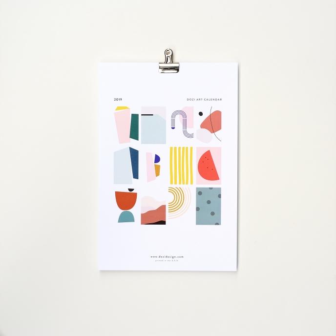 Dozi 2019 Calendar | Pitter Pattern