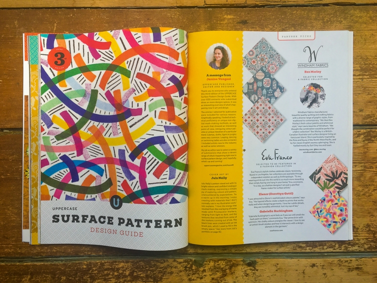 UPPERCASE Surface Pattern Design Guide spread