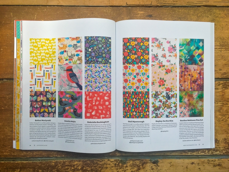 UPPERCASE Surface Pattern Design Guide - 6 designers' work spread
