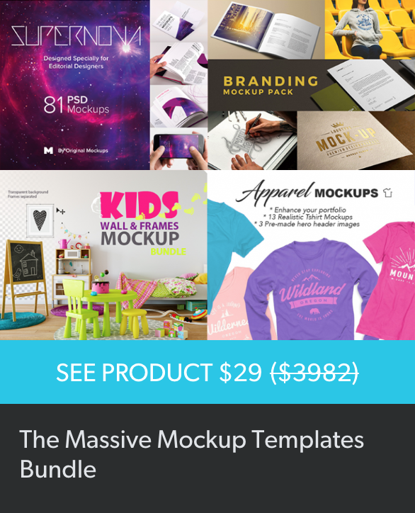 Design Cuts Mockup Bundle [5] | Pitter Pattern