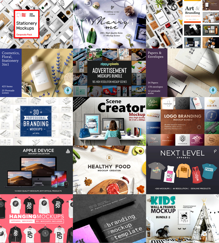 Design Cuts - The All-Encompassing Mockup Collection | Pitter Pattern