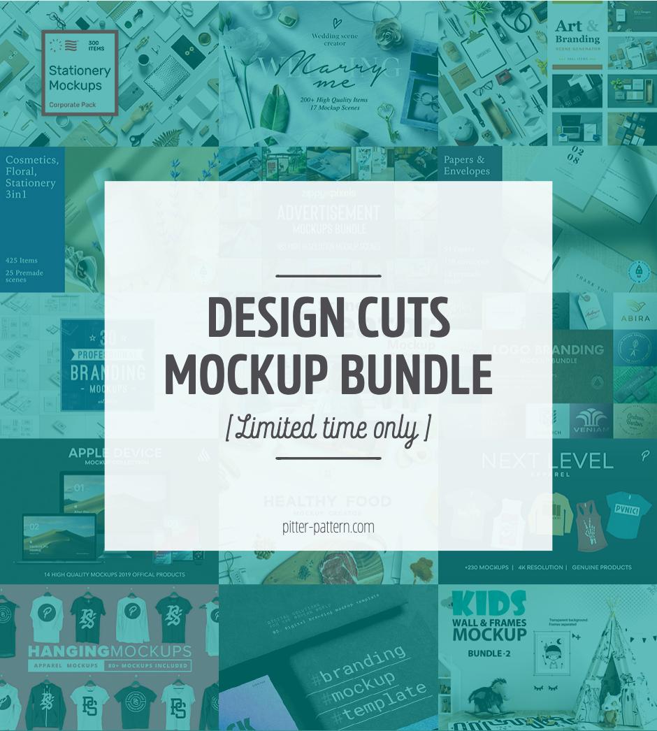 Design Cuts Mockup Bundle | Pitter Pattern