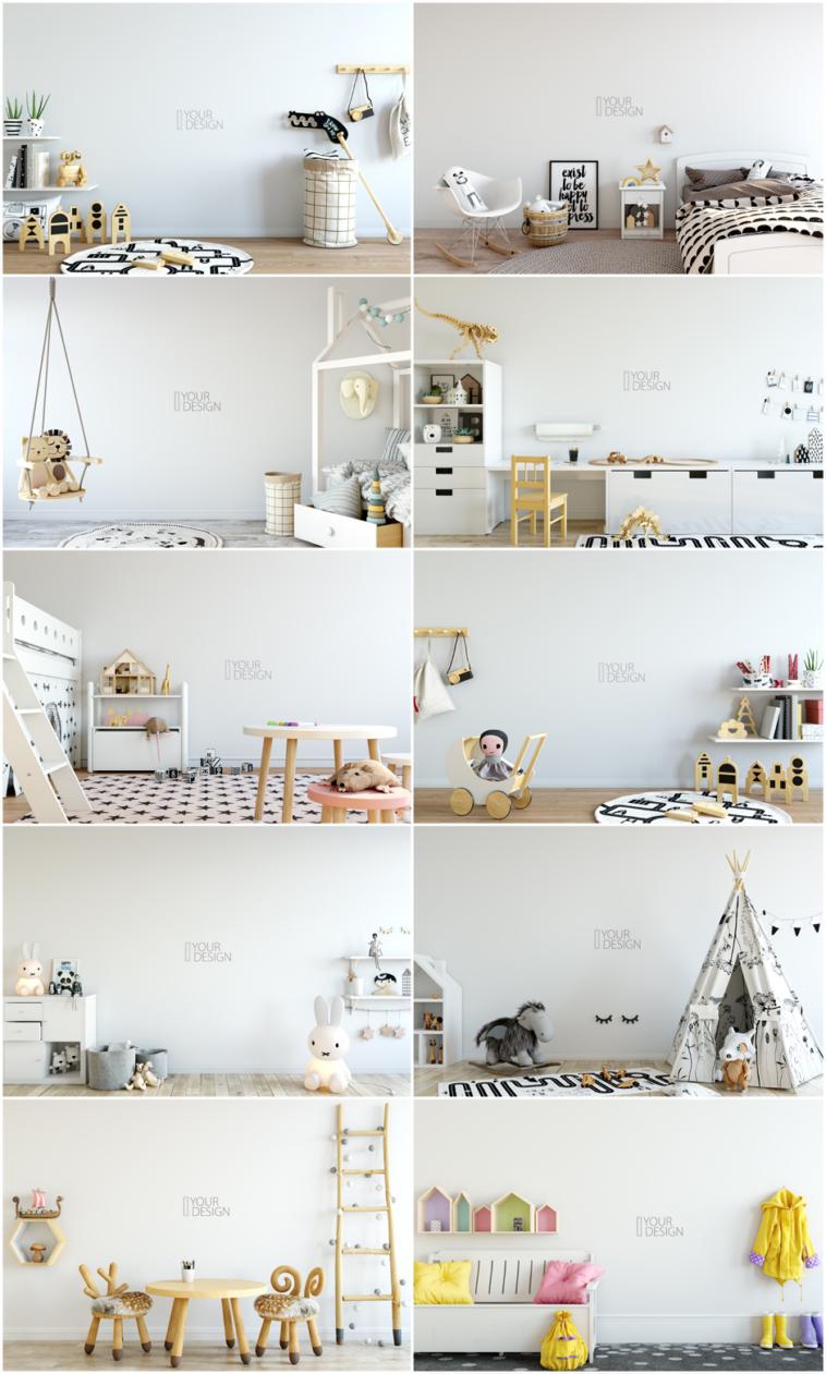 Yuri-U - Kids Wall & Frames Mockup Bundle 2 | Pitter Pattern