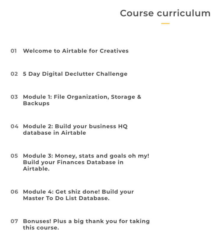 Airtable for Creatives course curriculum | Pitter Pattern