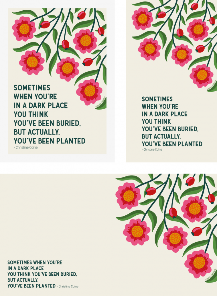 You've Been Planted - Free printable and wallpapers | Pitter Pattern