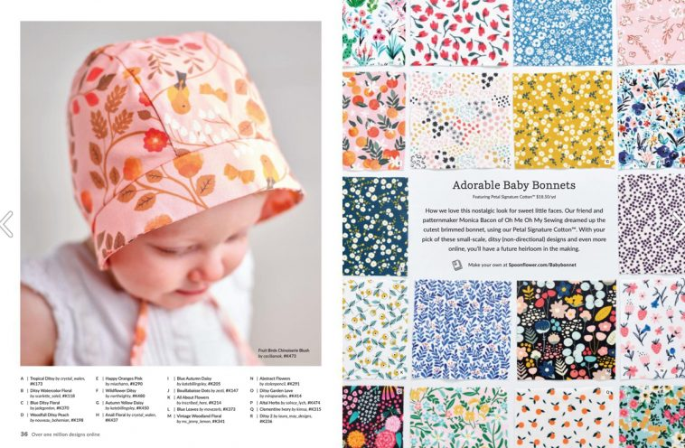 Spoonflower magazine - Baby bonnets