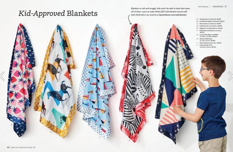Spoonflower magazine - Blankets