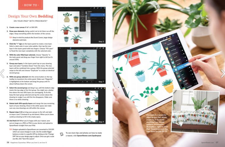 Spoonflower magazine - Procreate tutorial