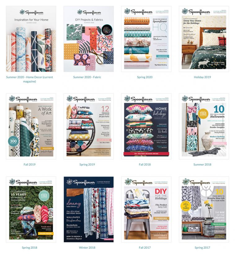 Spoonflower magazine - All issues