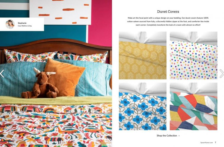 Spoonflower magazine - Duvet covers