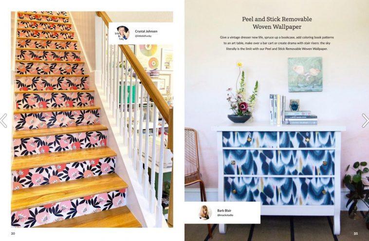 Spoonflower magazine - Woven wallpaper