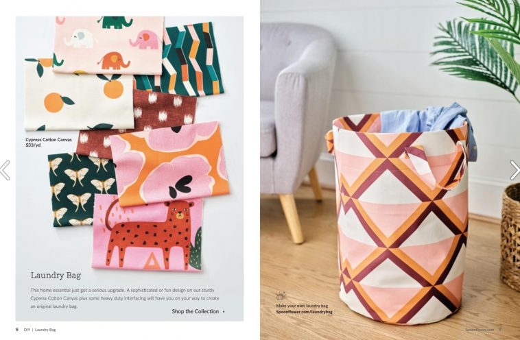 Spoonflower magazine - Laundry bag