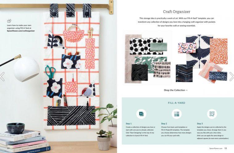 Spoonflower magazine - Craft organiser