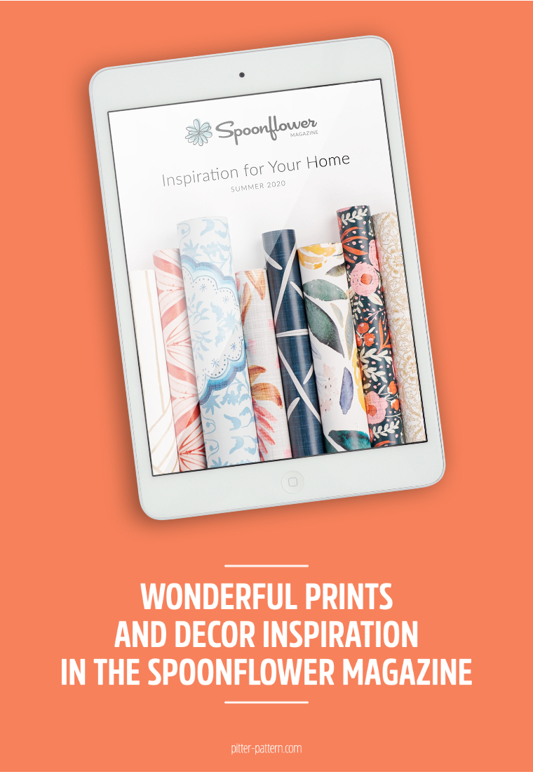 Wonderful prints and decor inspiration in the Spoonflower magazine | Pitter Pattern