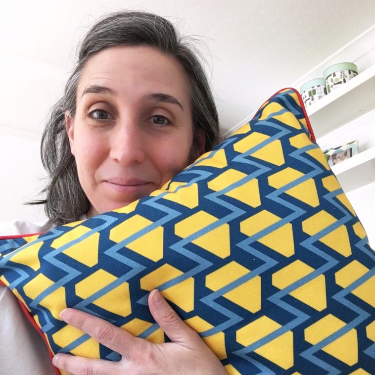 Building a brand - My journey to the 'Republic of Happy' - Cushion sample back | Pitter Pattern