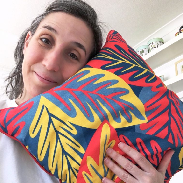 Building a brand - My journey to the 'Republic of Happy' - Cushion sample front | Pitter Pattern