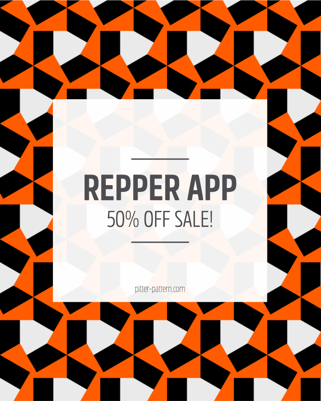 Repper App 50% off sale | Pitter Pattern
