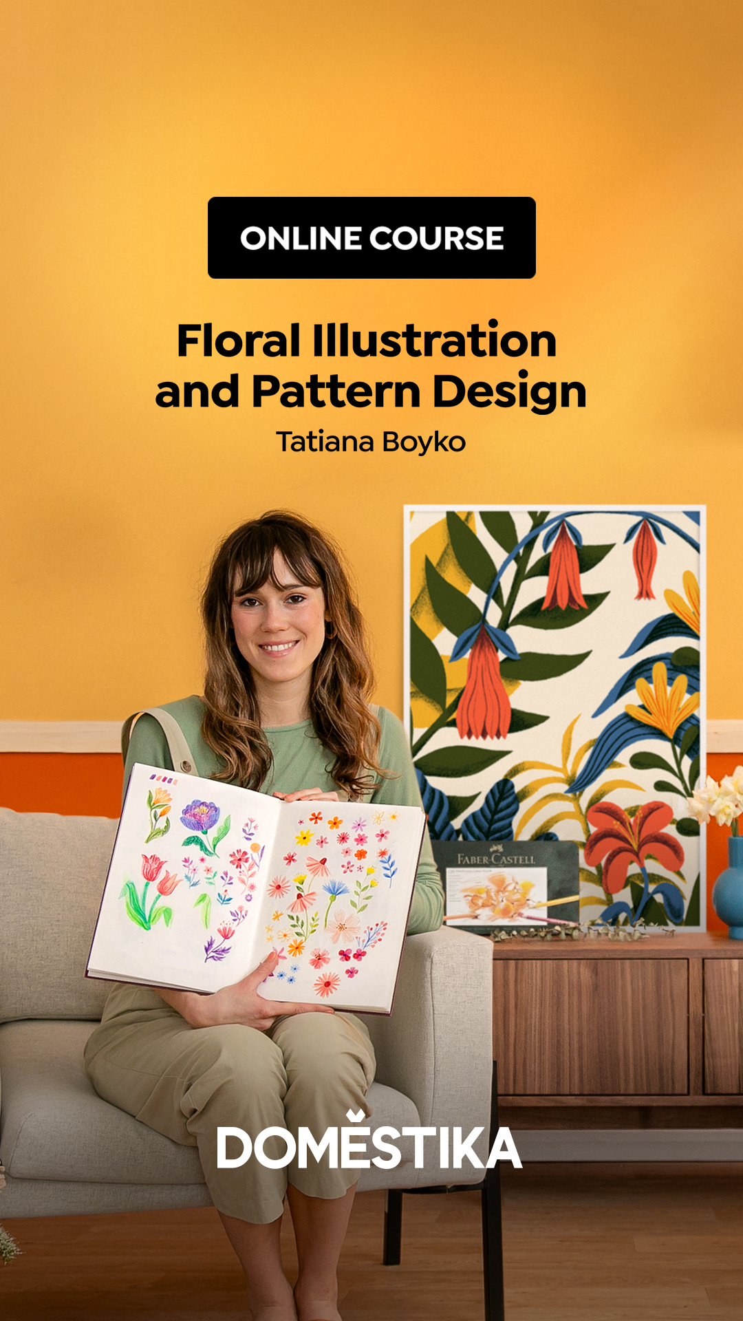 Floral Illustration and Pattern Design - Domestika Course